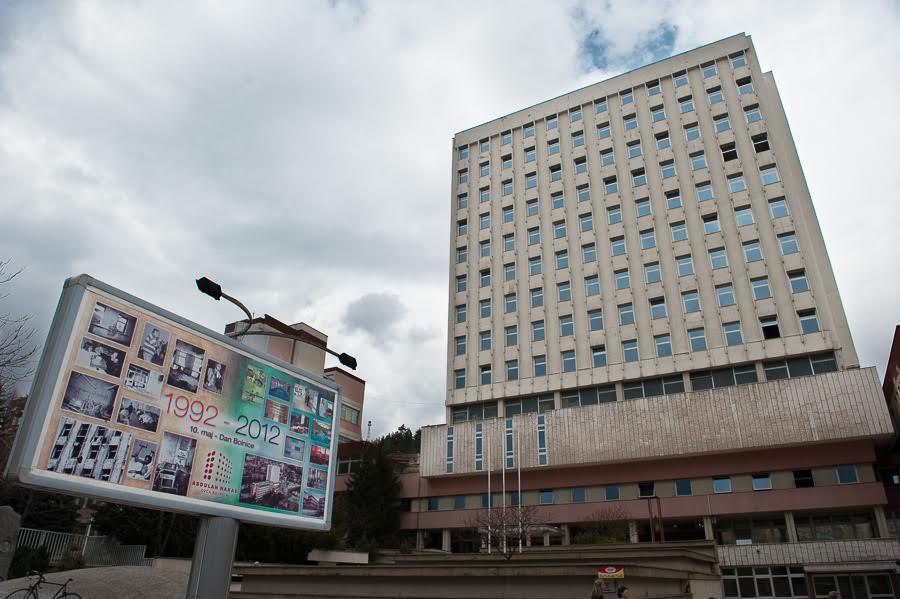 L'ospedale in cui durante tutto il periodo dell'assedio, venivano curate le vittime.